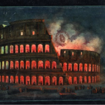 Lights in the Colosseum. Celebrations for the Birthday of Rome, 1849. Museo Centrale del Risorgimento, Rome.